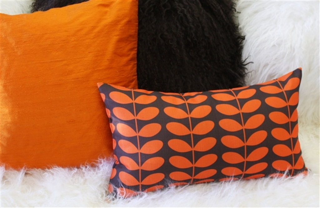 Image of: Modern Throw Pillows Orange