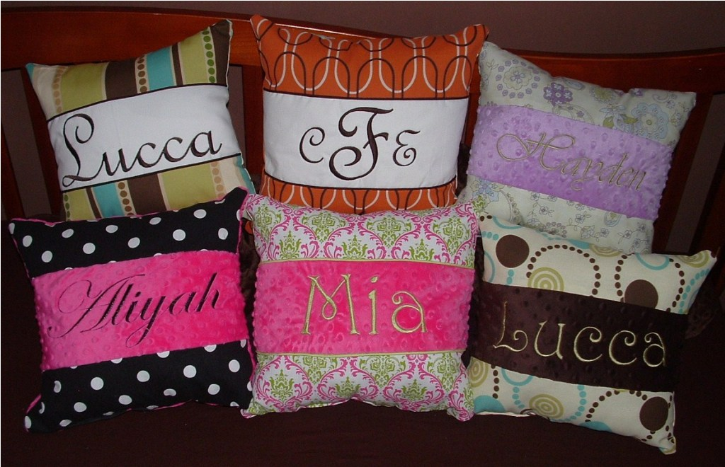 Image of: Monogram Pillow Accent