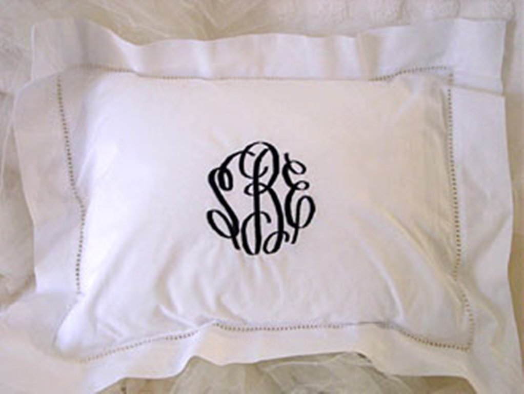 Image of: Monogram Pillow Anthropologie