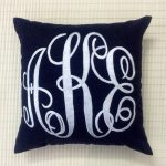 Monogram Pillow Applique