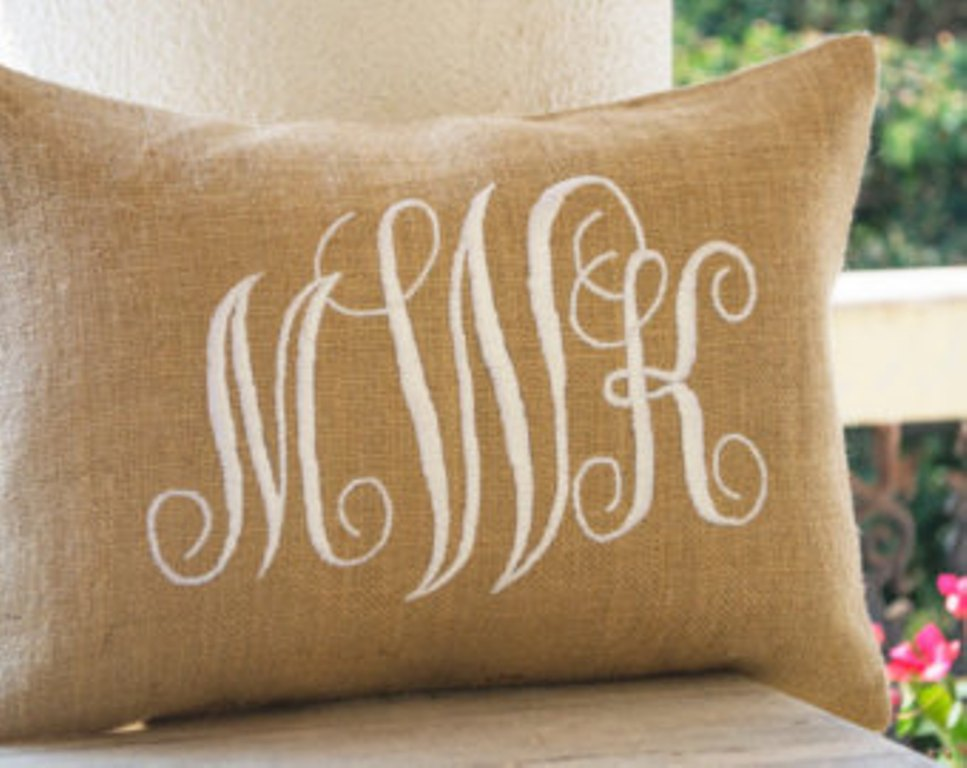 Image of: Monogram Pillow Bed