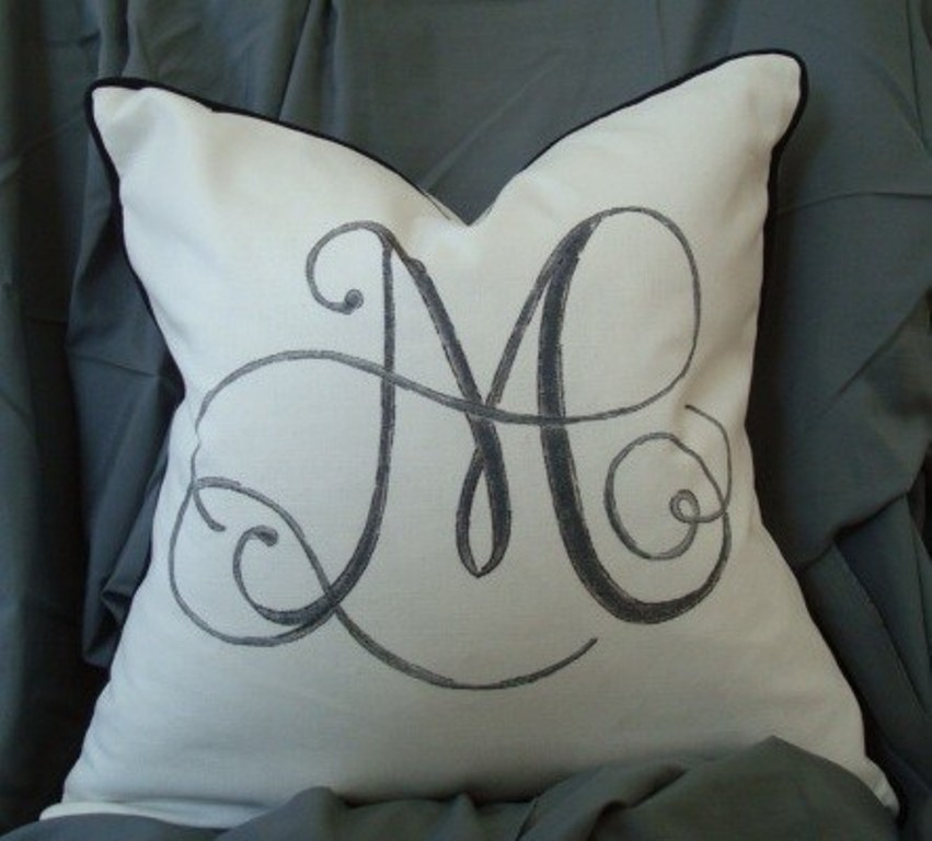 Image of: Monogram Pillow Cases