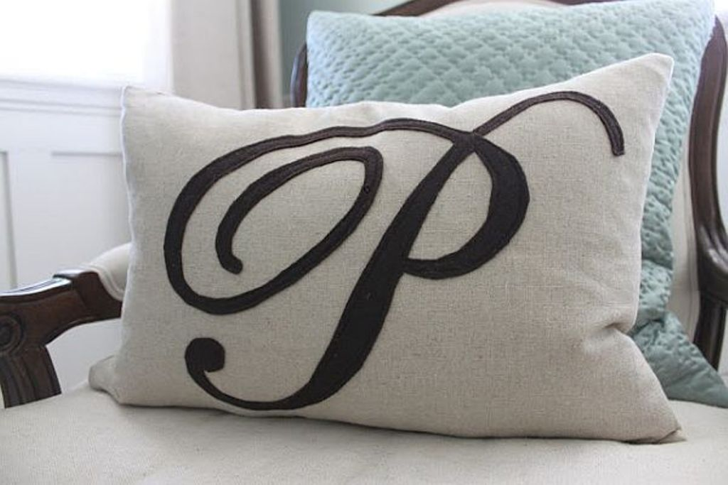 Image of: Monogram Pillow Cover Accent