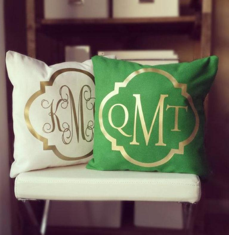 Image of: Monogram Pillow Cover