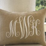 Monogram Pillow DIY