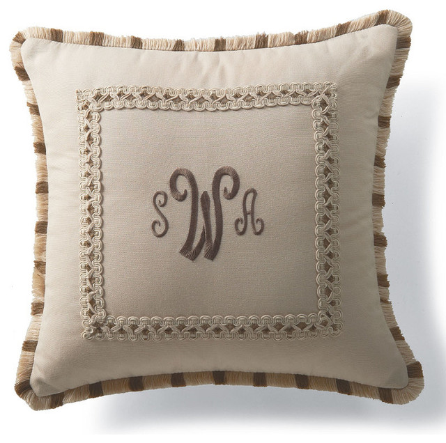 Image of: Monogrammed Pillows Classic