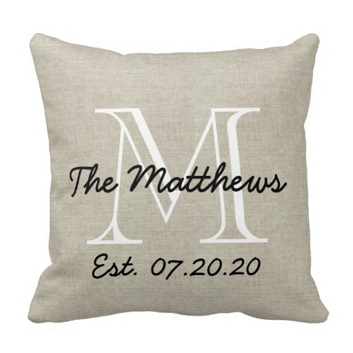 Image of: Monogrammed Pillows Interest