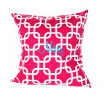 Monogrammed Pillows Red