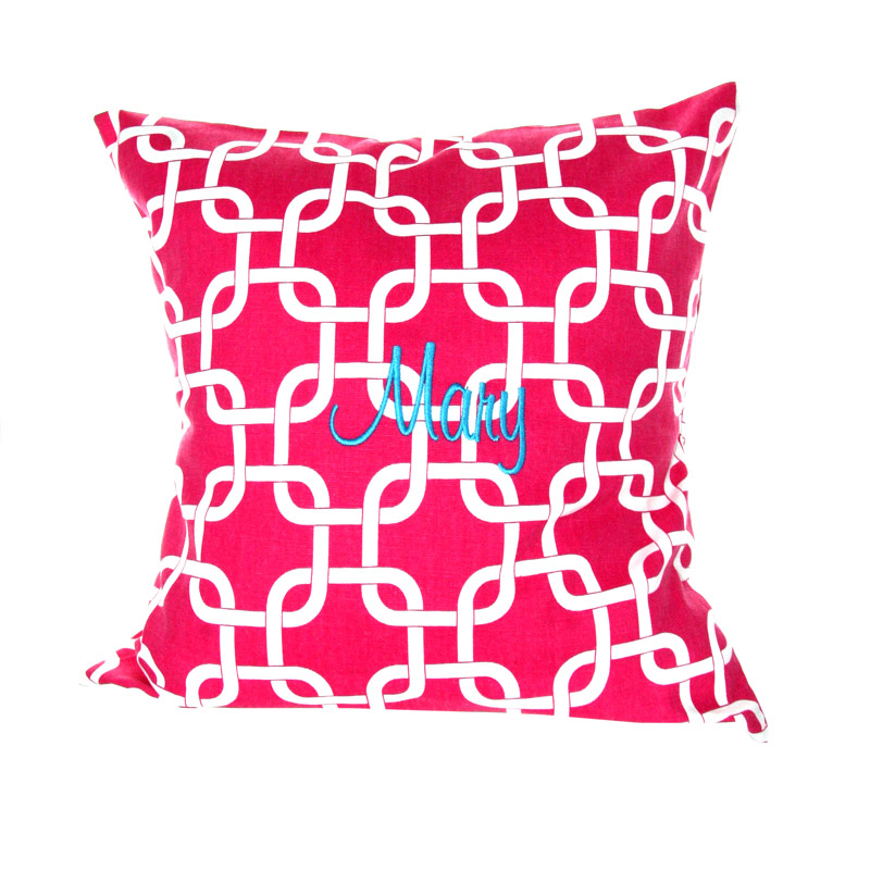 Image of: Monogrammed Pillows Red