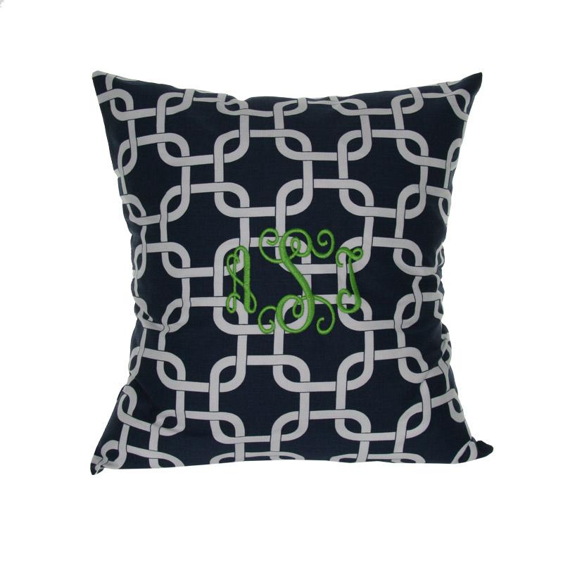 Image of: Monogrammed Pillows Vintage