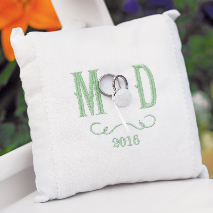 Image of: Monogrammed Pillows White