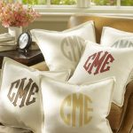 Monogrammed Pillows for Nursery