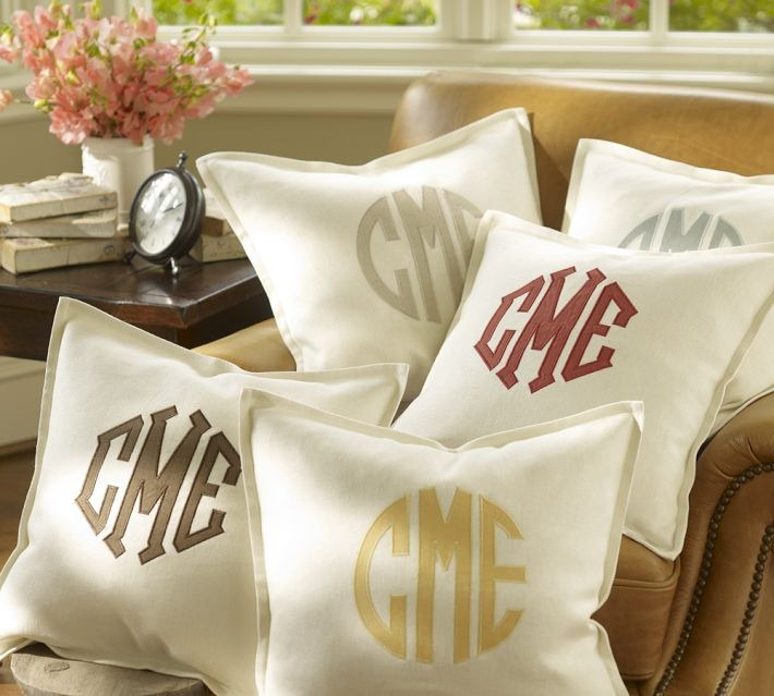 Image of: Monogrammed Pillows for Nursery