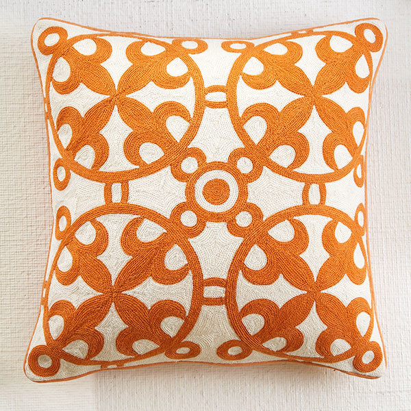 Image of: Moroccan Pillows Orange