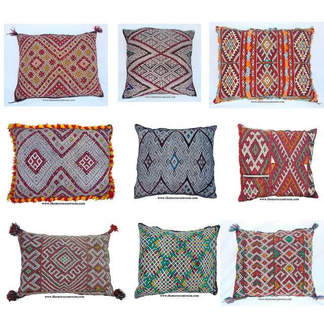 Image of: Moroccan Pillows Types