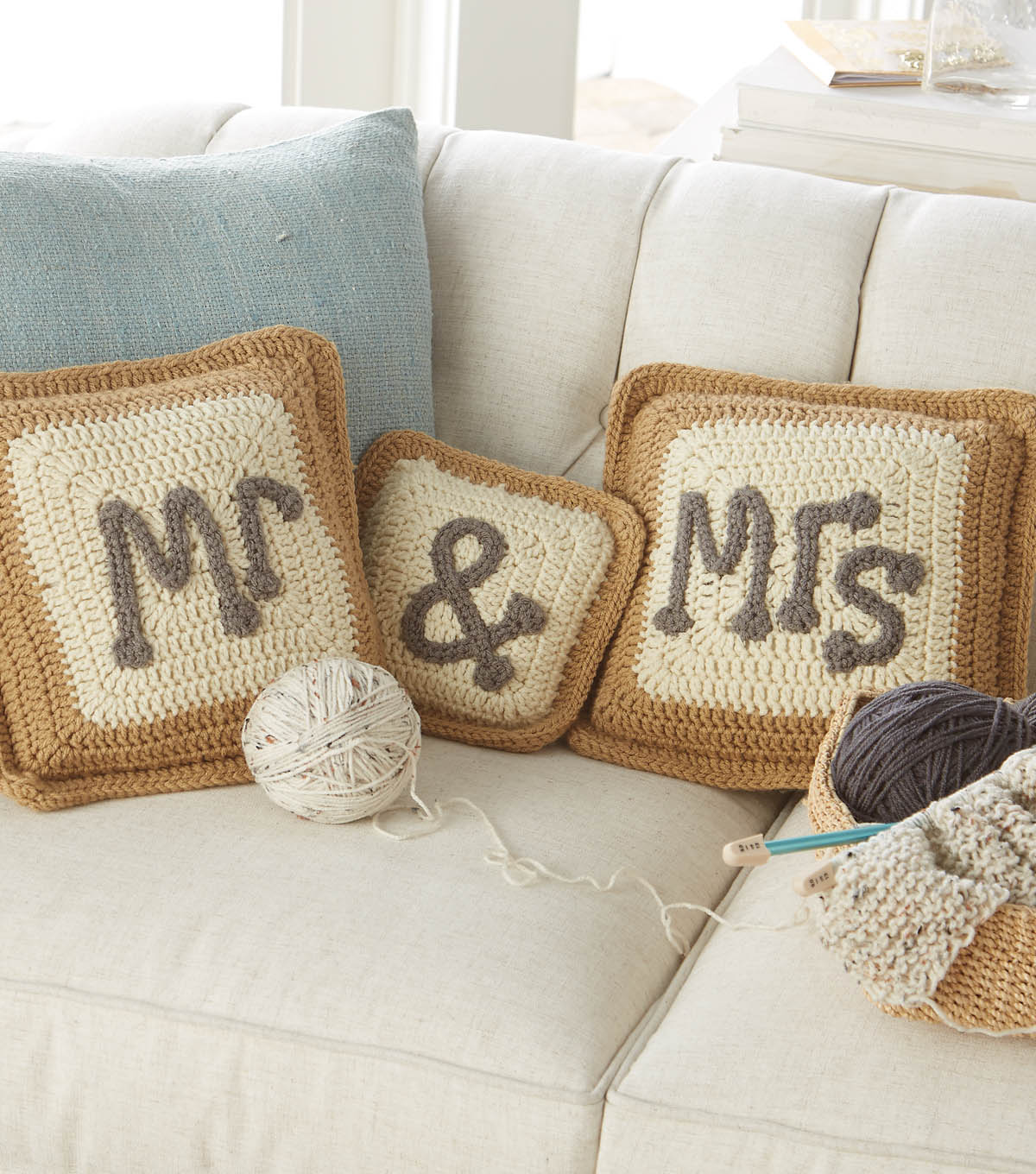 Image of: Mr and Mrs Pillows Cover Fabric