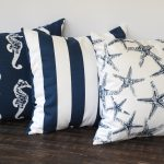 Nautical Navy Blue Throw Pillows