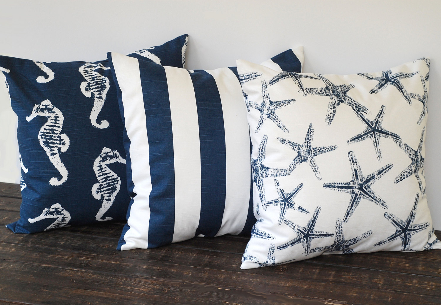 Image of: Nautical Navy Blue Throw Pillows