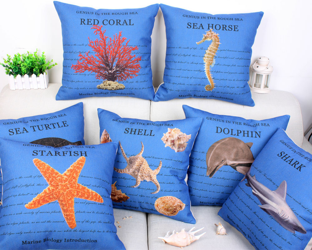 Image of: Nautical Navy Throw Pillows