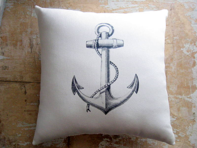 Image of: Nautical Pillows Anchor