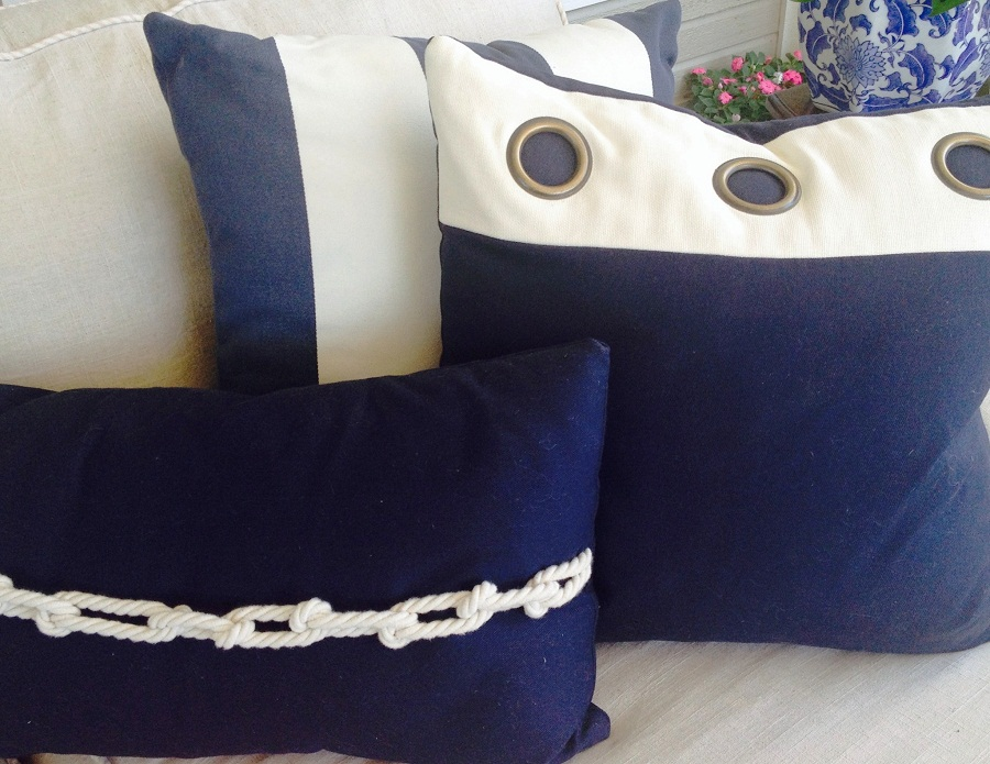 Image of: Nautical Pillows Blue