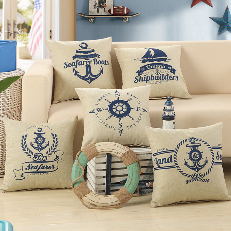 Image of: Nautical Pillows Couch