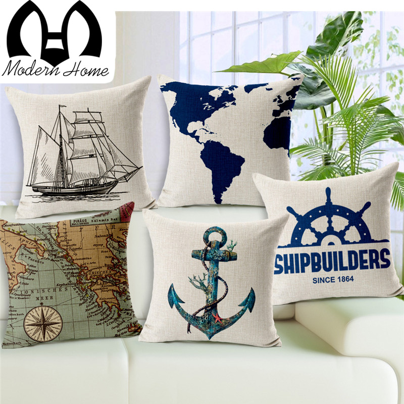 Image of: Nautical Pillows Cover