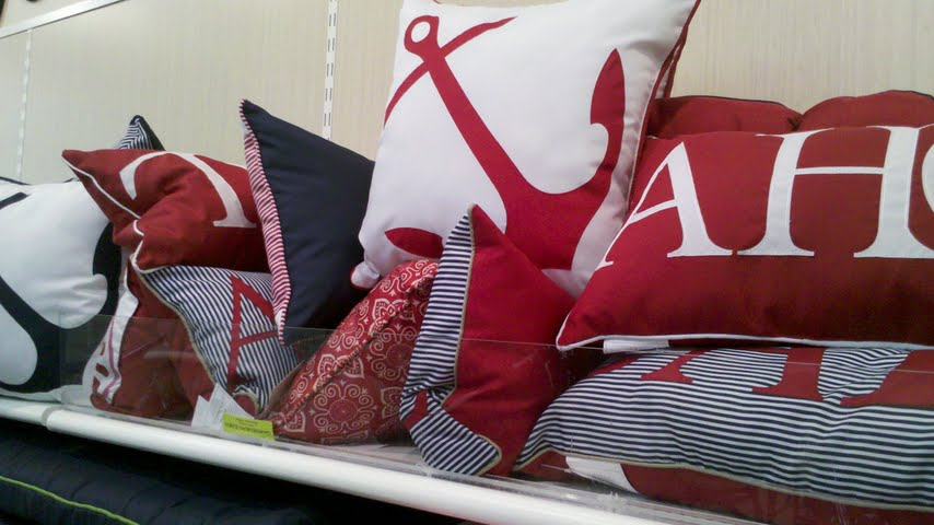 Image of: Nautical Pillows Red