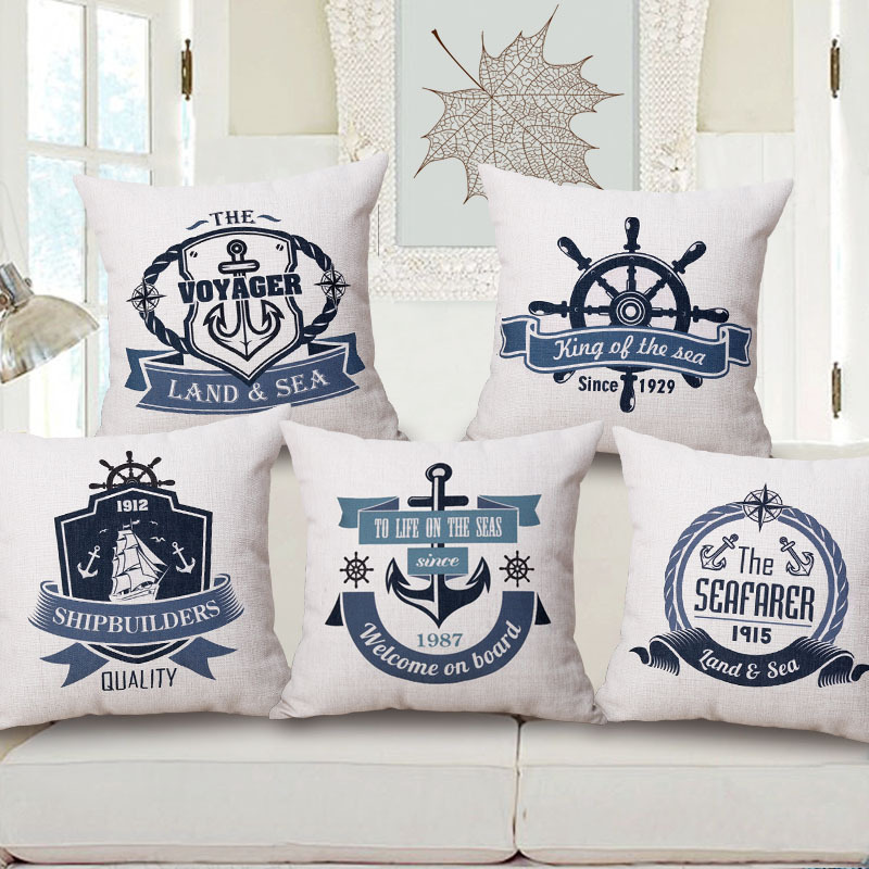 Image of: Nautical Pillows Sofa