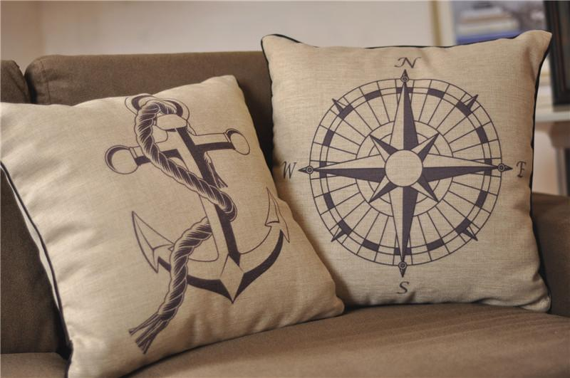 Image of: Nautical Throw Pillows Cover