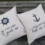 Nautical Throw Pillows White
