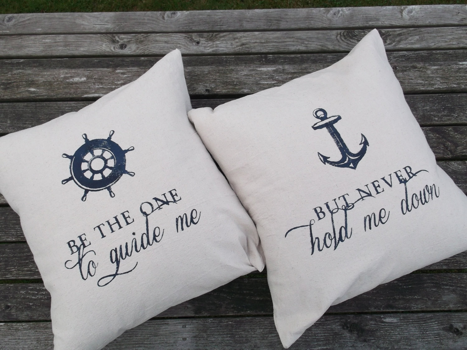 Image of: Nautical Throw Pillows White