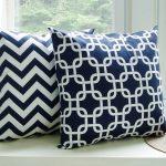 Navy Blue Throw Pillows Pattern
