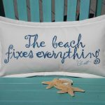 Navy and Turquoise Outdoor Pillows