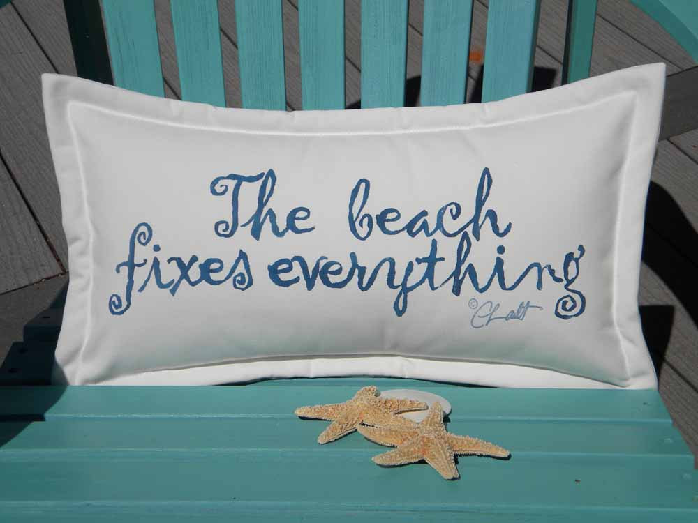 Image of: Navy and Turquoise Outdoor Pillows