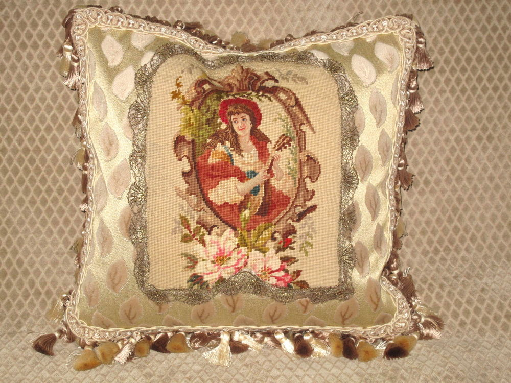 Image of: Needlepoint Pillows Antique