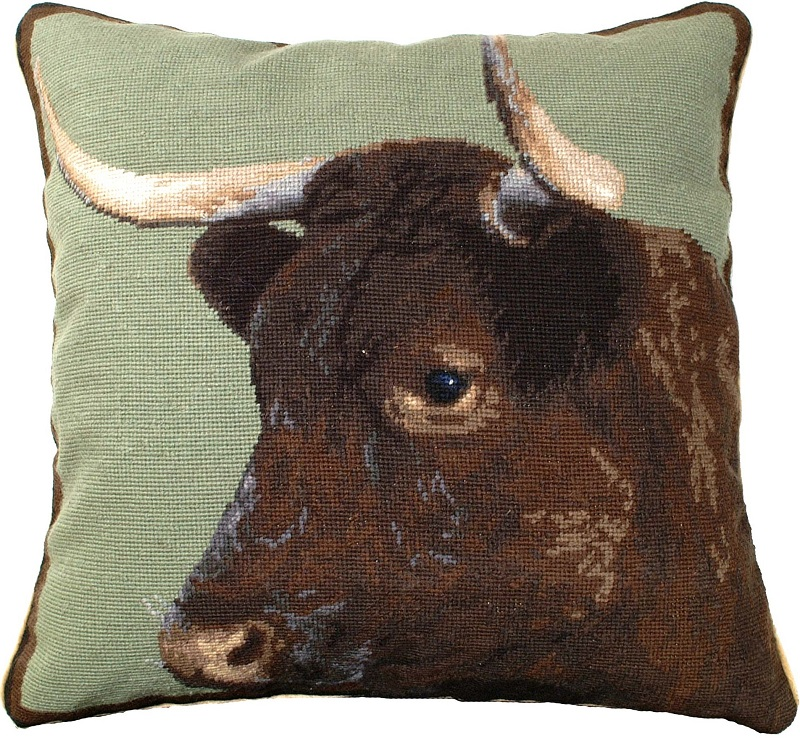 Image of: Needlepoint Pillows Cow