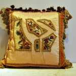 Needlepoint Pillows Gold