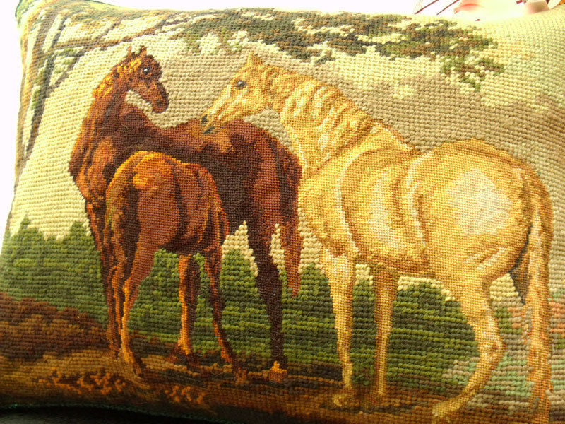 Image of: Needlepoint Pillows Horse