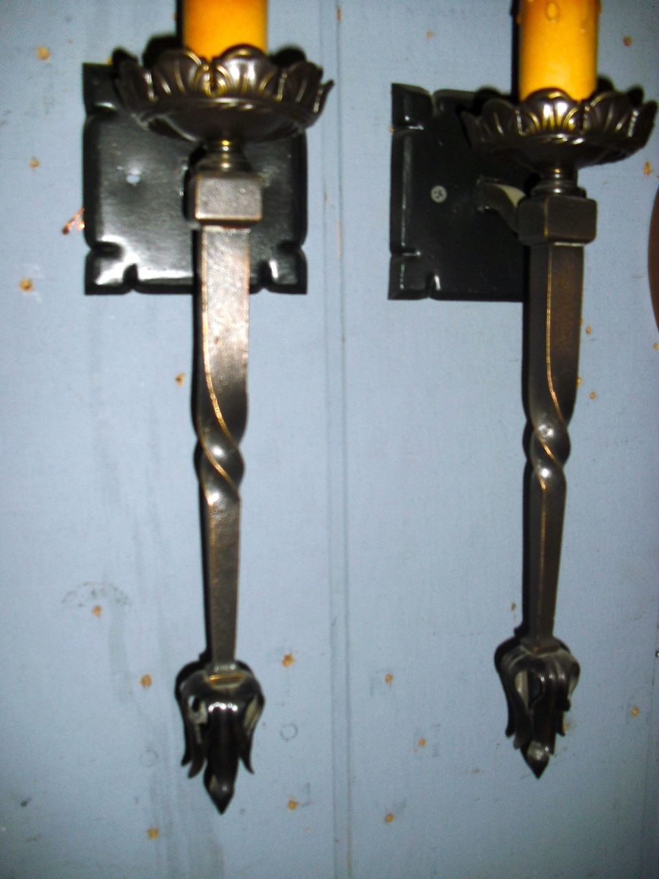 Image of: Nice Candle Wall Sconces Wrought Iron