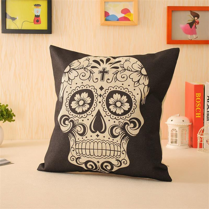 Image of: Nice Skull Pillow