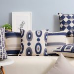 Nordic Navy Blue Throw Pillows
