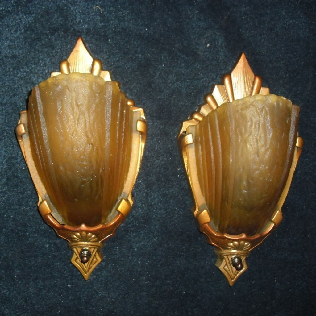 Image of: Old Art Deco Wall Sconce