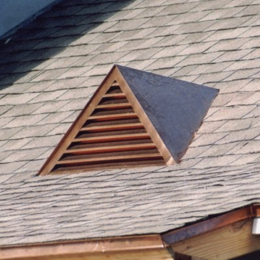 Image of: Old Copper Roof Vents