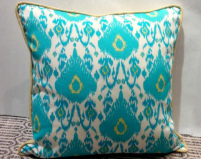 Image of: Orange and Turquoise Outdoor Pillows