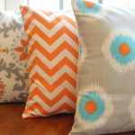 Orange and Turquoise Throw Pillows