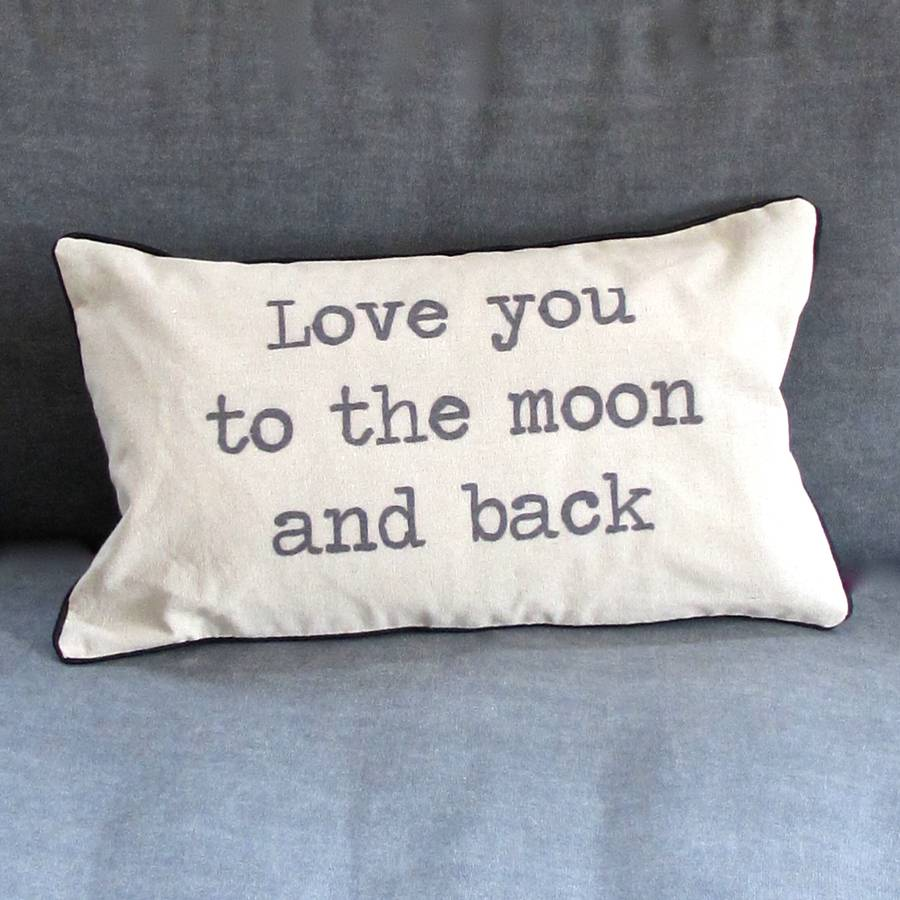 Image of: Original To The Moon And Back Pillow