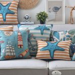 Outdoor Throw Pillows Beach Theme