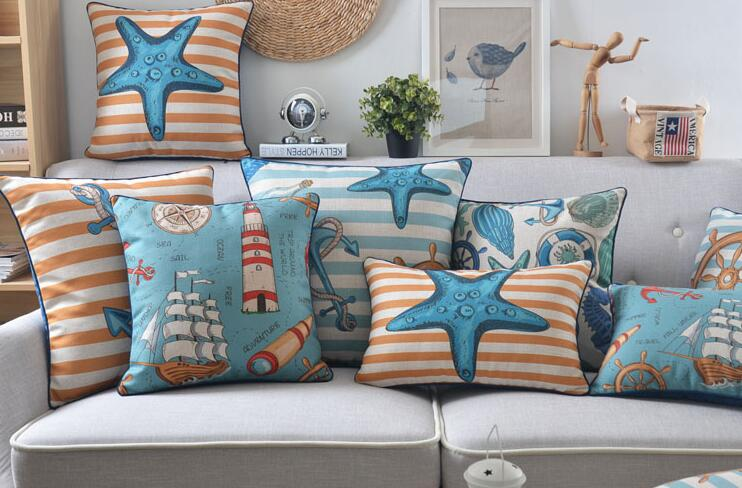 Image of: Outdoor Throw Pillows Beach Theme