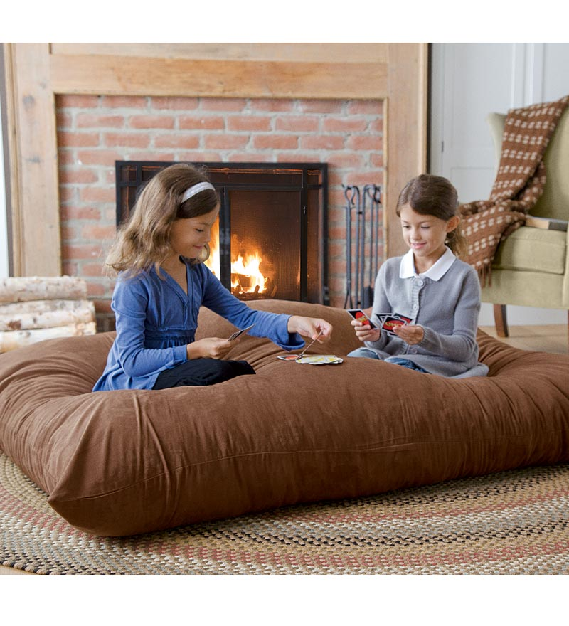 Image of: Oversized Floor Pillows Brown